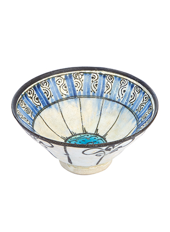 a hand painted ceramic bowl from iran