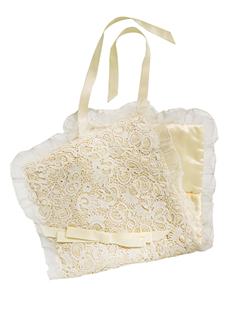 Vintage silk and lace stocking carrier