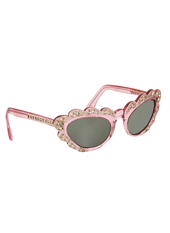 vintage pink diamante sunglasses