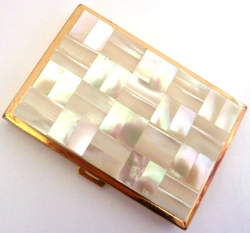 MOTHER OF PEARL POWDER COMPACT